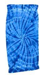 12 Units of Tye Die Beach Towel 30 x 60 Spider Royal - Beach Towels