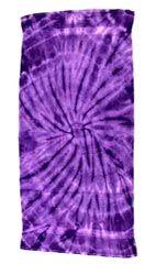 12 Units of Tye Die Beach Towel 30 x 60 Spider Purple - Beach Towels