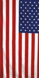 12 Units of Cotton Printed Fiber Reactive Beach Towel 30 x 60 American Flag - Beach Towels