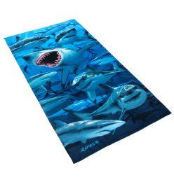 12 Units of Cotton Printed Fiber Reactive Beach Towel 30 x 60 Shark - Beach Towels