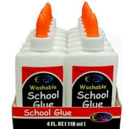 48 Units of Washable School Glue, 4 Oz. - Glue Office and School