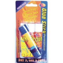48 Units of Glue Stick, White, 4 Pk. - Glue Office and School