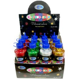 48 Units of Glitter Glue - 4 Ounce Bottle - Colors - Glue Office and School