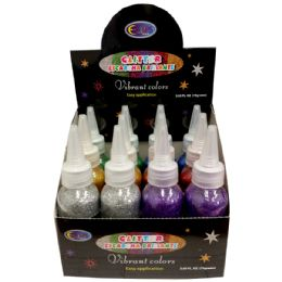 48 Units of Glitter - 2.65 Ounce Bottles - Glue Office and School