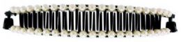 72 Units of Black acrylic hair combs - Hair Brushes & Combs