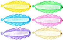 72 Units of Assorted pastel colored acrylic hair combs - Hair Brushes & Combs