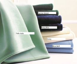8 Units of Premium Vellux by Westpoint Home Blankets Twin 72 x 90 Hunter Green - Fleece & Sherpa Blankets