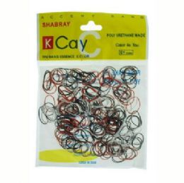 72 Units of red, black, and white mini rubber bands - Rubber Bands