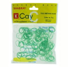 72 Units of Green and clear mini rubber bands - Rubber Bands
