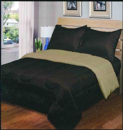 6 Units of Luxury Reversible Comforter Blanket Full Size 76 x 86 Chocolate Taupe - Blankets & Bedding