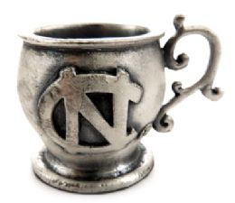 16 Units of Small mug made of pewter with the University of North Carolina symbol - Office Accessories