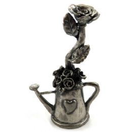 10 Units of Candle Snuffer Made Of Pewter Shaped As A Watering Can With Roses Inside - Candles & Accessories