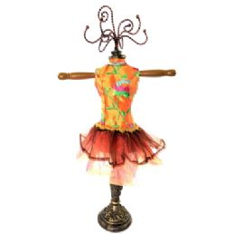 5 Units of Orange Ornate Jewelry Display Doll - Displays & Fixtures