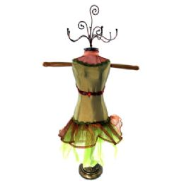 4 Units of Olive Green Ornate Jewelry Display Doll - Displays & Fixtures
