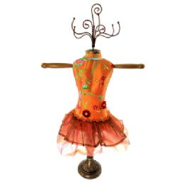 4 Units of Orange Ornate Jewelry Display Doll - Displays & Fixtures