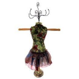 4 Units of Green Ornate Jewelry Display Doll - Displays & Fixtures