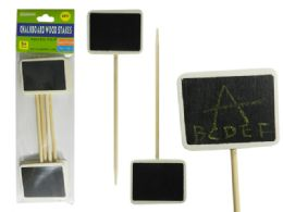 96 Units of 4 Piece Chalkboard Wooden Stakes - Garden Decor