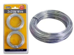 96 Units of 2pc Silver Wire, 25m Each - Wires