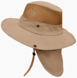 30 Units of Cotton Mesh Hat w/ Back Flap - Cowboy & Boonie Hat