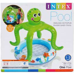 6 Units of SMILING OCTOPUS BABY POOL, AGE 1-3, IN COLOR BOX - SUMMER TOYS
