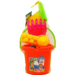 12 Units of BEACH TOY BUCKET WITH ACCESORIES - Beach Toys