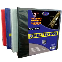 "8 Units of Durable 3"" View Binder - Clipboards and Binders"