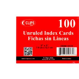 72 Units of Index Cards, 3x5, 100 Pk, White, Unruled - Labels ,Cards and Index Cards