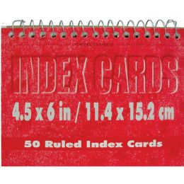 72 Units of Spiral Index Cards, 4x6 50 Pk, White Ruled - Labels ,Cards and Index Cards