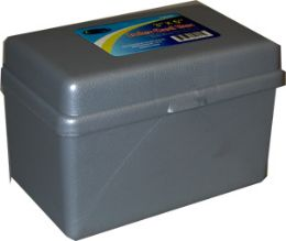 48 Units of Index Card Box, 3x5, Black - Labels ,Cards and Index Cards