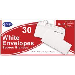 24 Units of Self Stick White Envelopes, #10, 30 Ct. - Envelopes