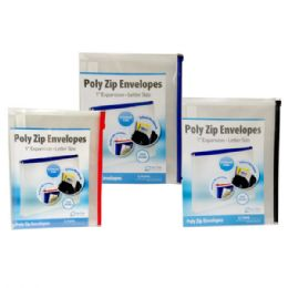 36 Units of Poly zip envelope, 10x13, assorted colors - Envelopes
