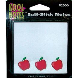 36 Units of APPLE Self Stick Notepad 3x5 50 sheets - Sticky Note & Notepads