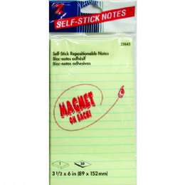 """36 Units of NotePad Magnetic Self Stick Pad 3 1/2"""" x 6"""" 50shts - Sticky Note & Notepads"""