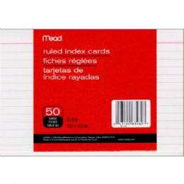 72 Units of Mead Index Cards Ruled 4x6 50ct. - Labels ,Cards and Index Cards