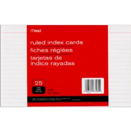 72 Units of Mead Index Cards Ruled 5x8 25ct. - Labels ,Cards and Index Cards