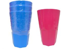96 Units of 3 Pc Plastic Tumbler Cups - Plastic Drinkware