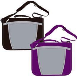 "12 Units of Zipper Carry Bag Binder 1.5"", 13.5""x13.5"", Navy, Black And Purple - Clipboards and Binders"