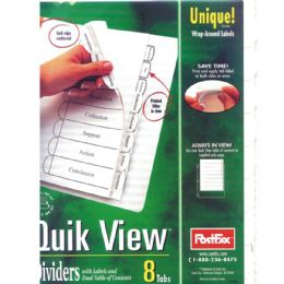 48 Units of POSTFAX Quick View Tab Dividers 5pk.w/wrap around labels - Tab Dividers