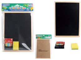 72 Units of 3 Piece Chalkboard Set - Chalk,Chalkboards,Crayons