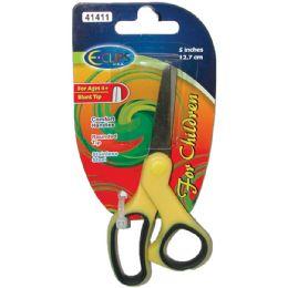 "60 Units of 5"" Blunt Tip Scissors With Soft Grip Handle - Scissors"