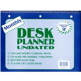 48 Units of Undated Monthly Diary - 2 pk. - Calendars & Planners