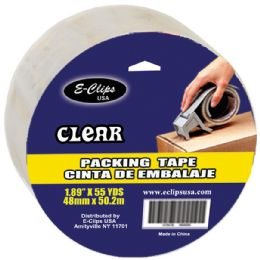"""48 Units of Packing Tape 1.89""""x 55yds - Clear - Tape"""