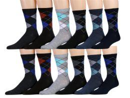 120 Units of Mens Classic Argyle Dress Socks - Mens Dress Sock