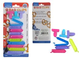 96 Units of 13 Pc Bag Clips In Assorted Sizes & Colors - Clips and Fasteners
