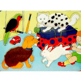 48 Units of Wooden Puzzles, Asst. Animal Designs - Puzzles