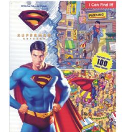 48 Units of SUPERMAN RETURNS Official Movie Book includes activity - Licensed School Supplies