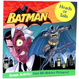 "48 Units of BATMAN ""Heads Or Tails"" Book Plus bonus activity - Licensed School Supplies"
