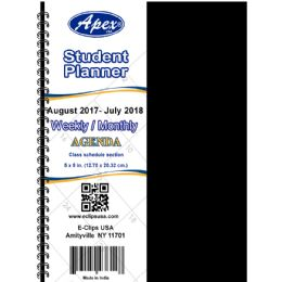 60 Units of 2017 - 2018 Student agenda, double wire, 5x8, blue, red - Calendars & Planners