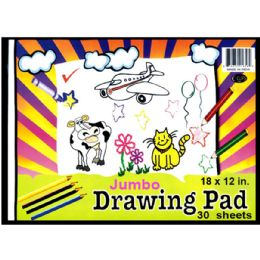 48 Units of Jumbo Drawing Pad, 9x12, 30 sheets - Sketch, Tracing, Drawing & Doodle Pads