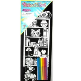 """48 Units of Velvet Art with 6 Markers, 7.5""""x 19"""" - Sketch, Tracing, Drawing & Doodle Pads"""